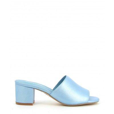 2 Baia Vista Printemps Aqua Heeled Mules Shoes Heels