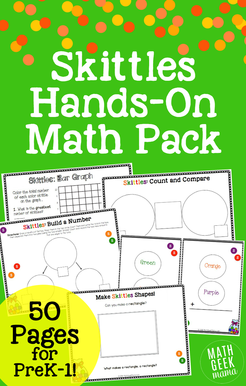 Skittles Math: Hands on Lessons and Games | Kindergarten curriculum ...