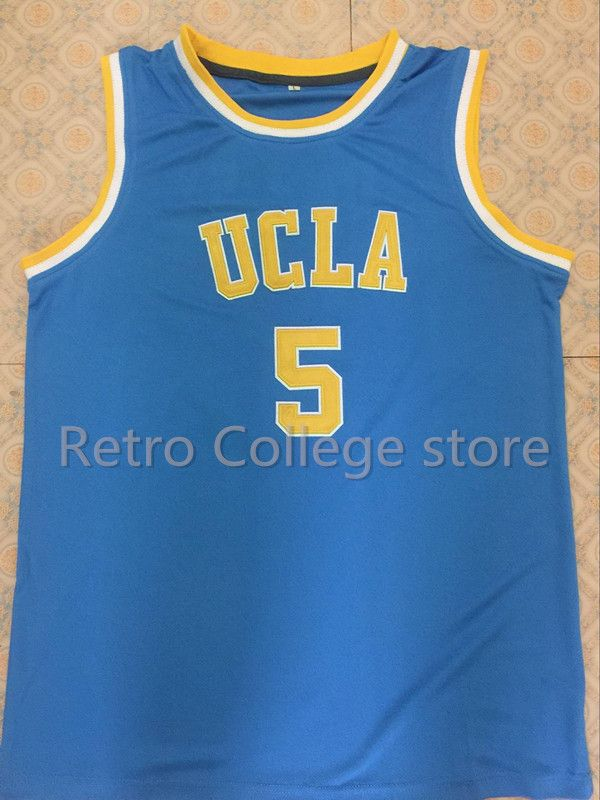 d235dbd8e #5 Baron Davis UCLA Bruins College University Retro Throwback Basketball  Jersey Customize any size number and player name