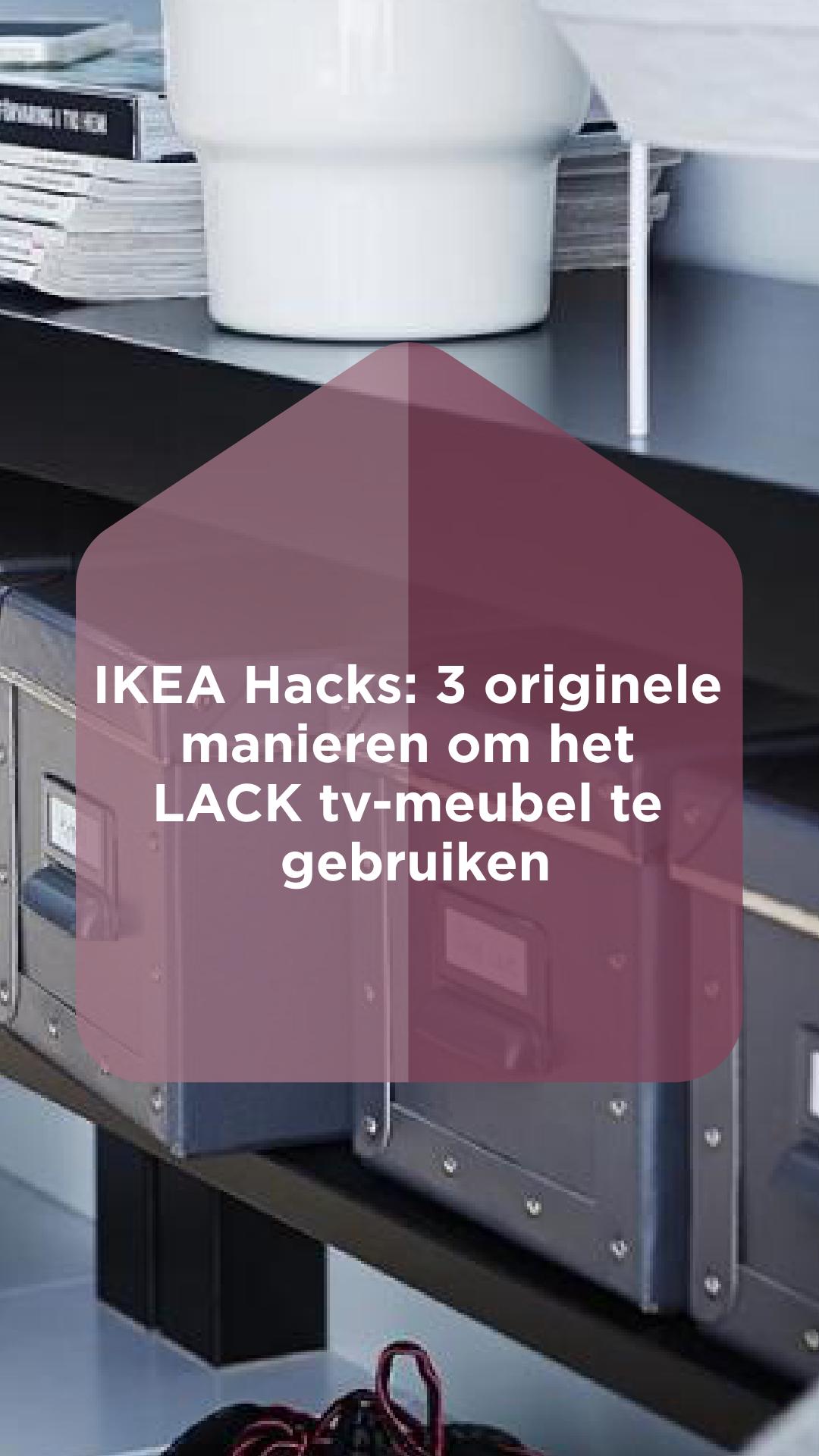 Lack Tv Meubel Ikea Zwart.Ikea Hacks Verschillende Manieren Om Het Lack Tv Meubel Te