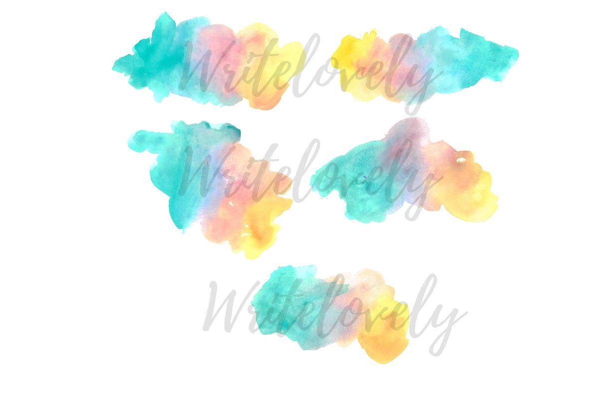Watercolor Splash Rainbow Clipart In 2020 Rainbow Clipart Clip Art