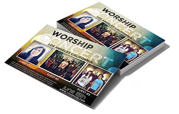 Modern worship concert invitation psd templates worship and modern worship concert invitation stopboris Images
