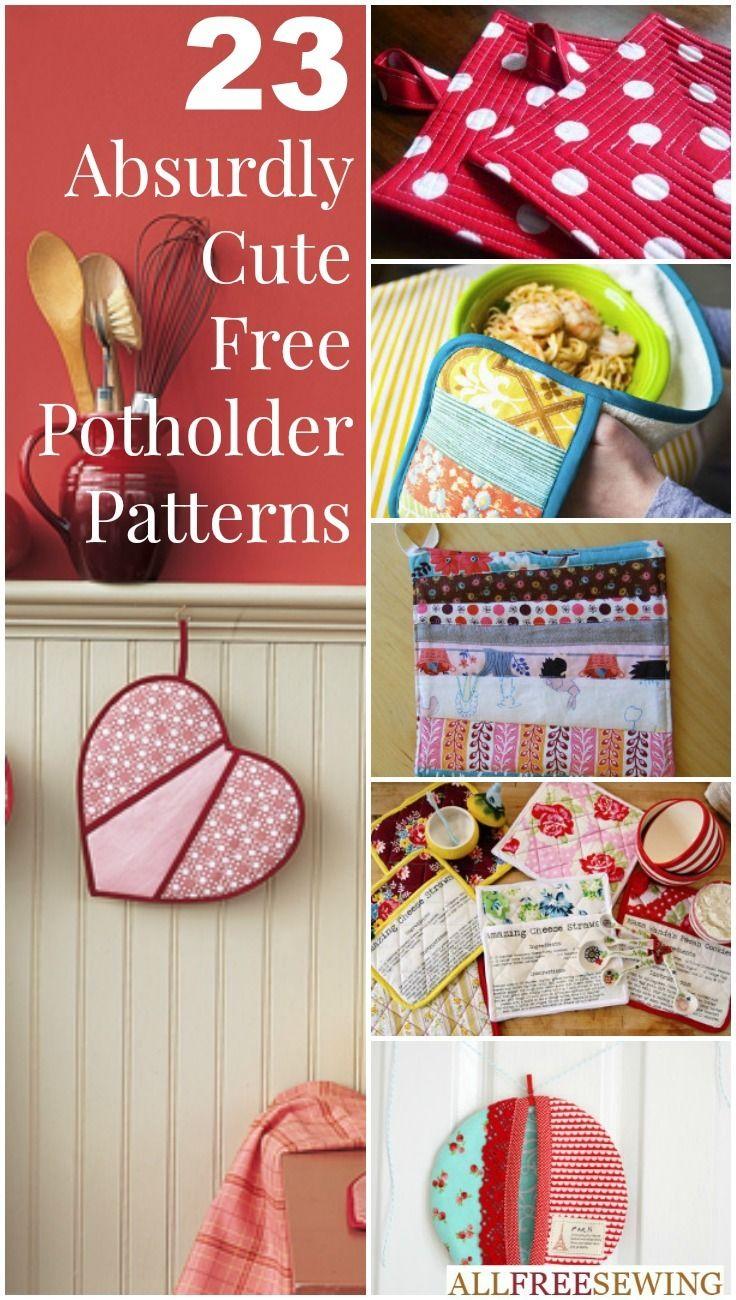 How to Make Potholders: 25+ Hot Pad Patterns | Pinterest | Diy ...