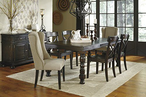 Dining Room Extension Table Gerline Formal Wood Dark Brown Color Dining Room Set Rectangle