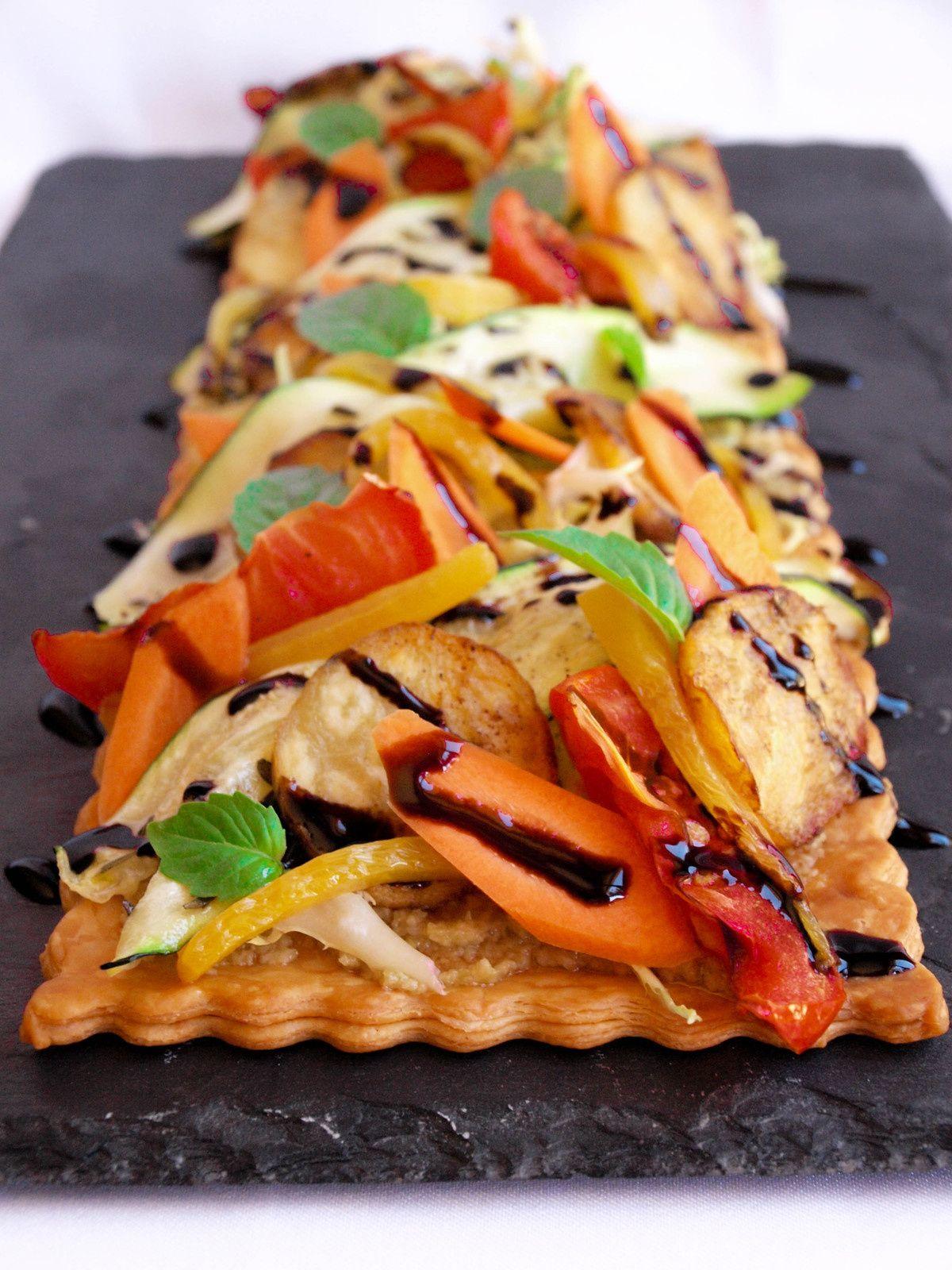 Tarte fine aux légumes grillées | Tarte fine, Idée recette et Alimentation