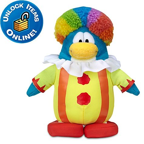 Club Penguin Clown Penguin Plush Toy 6 Club Penguin Kids