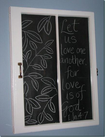 Window Pane Chalkboard - kitchen