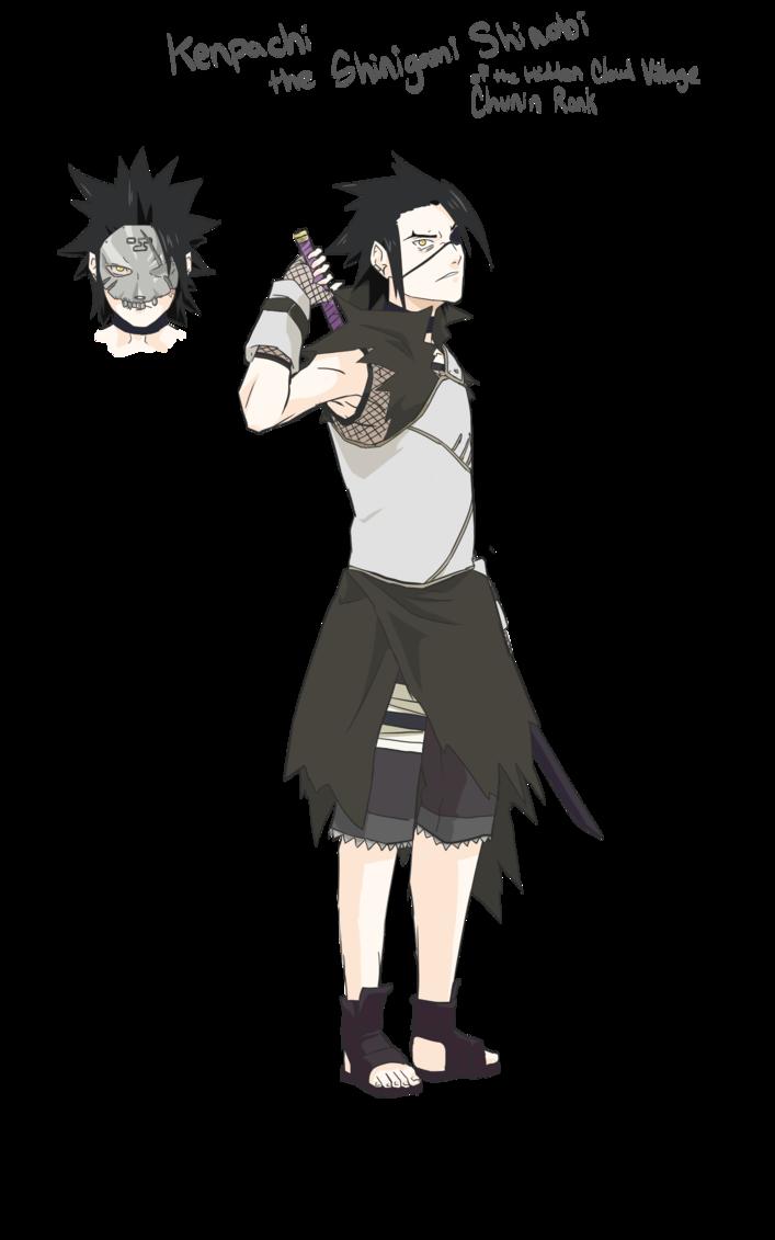 Kenpachi the Cloud Shinobi NarutoOC by Skeletonny