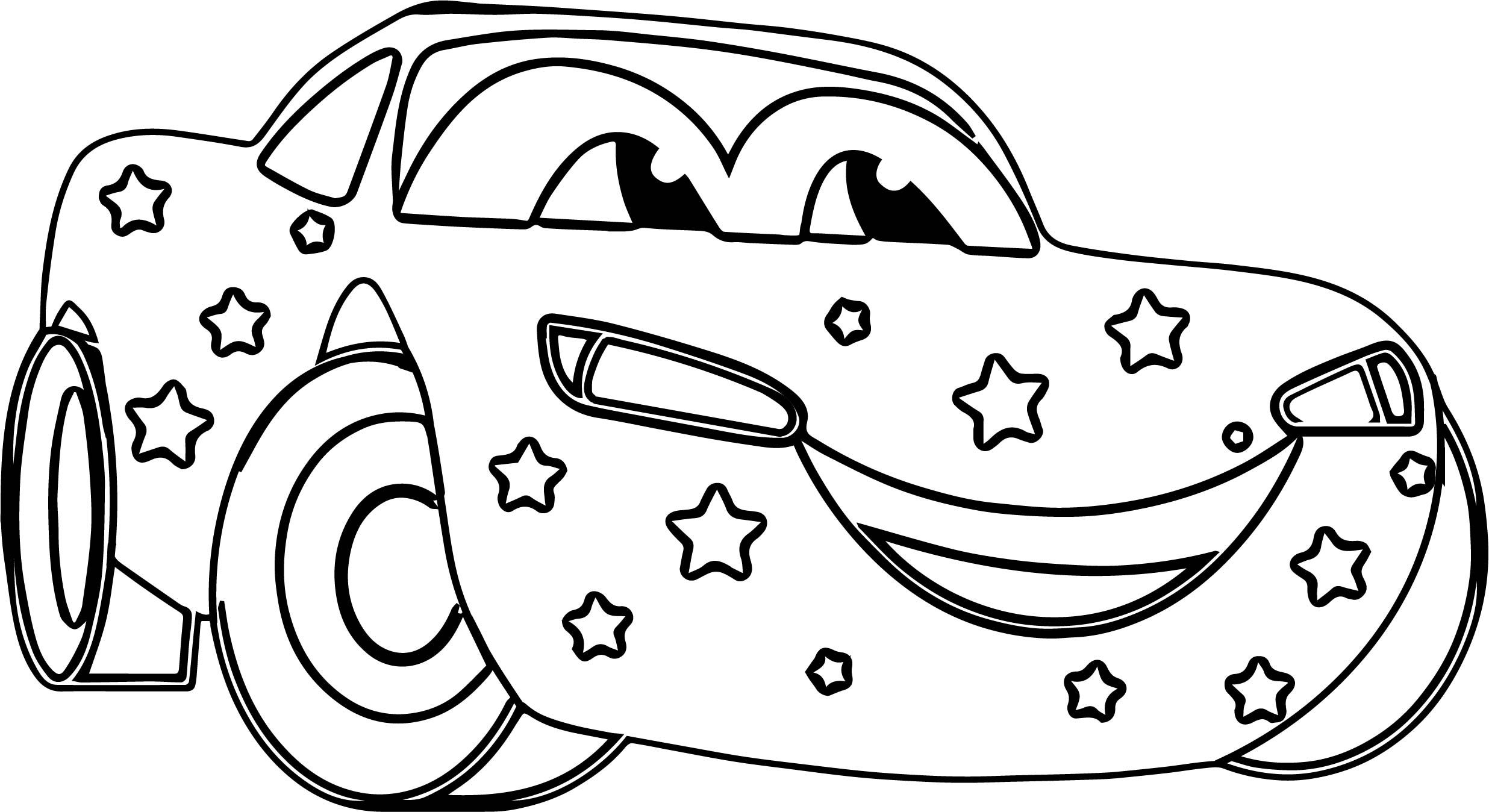 Awesome Star Disney Car Coloring Page Cars Coloring Pages Santa Coloring Pages Coloring Pages