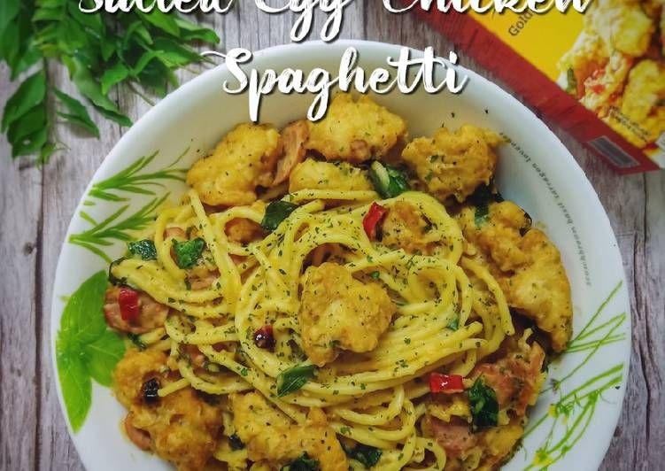 Resepi Olahan Salted Egg Chicken Spaghetti Yang Lezat Aneka Resepi Enak Resep Ayam Spageti Ayam Rebusan