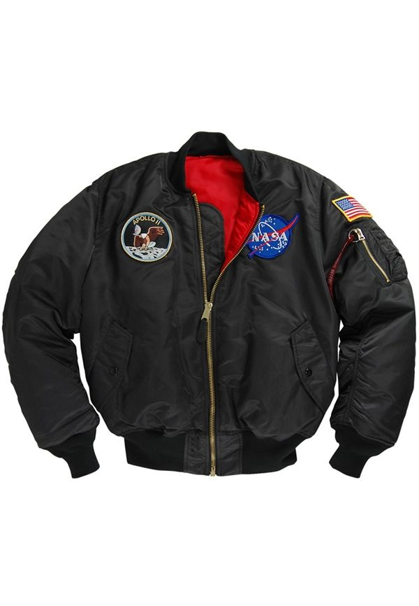 Alpha Black Apollo MA-1 Flight Jacket