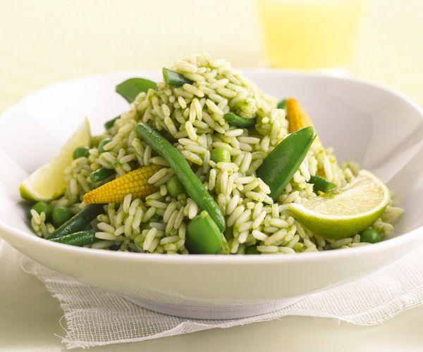 La salade de riz aux l gumes verts une entr e quilibr e - Cuisiner haricots verts surgeles ...