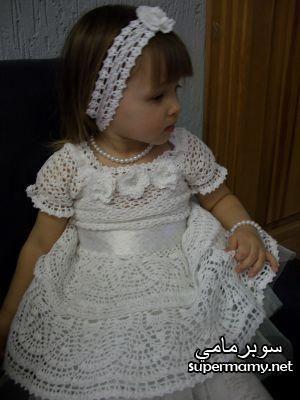 c4877b5b9 فساتين كروشيه صيفى للبنات | sousou | Crochet baby clothes, Crochet ...