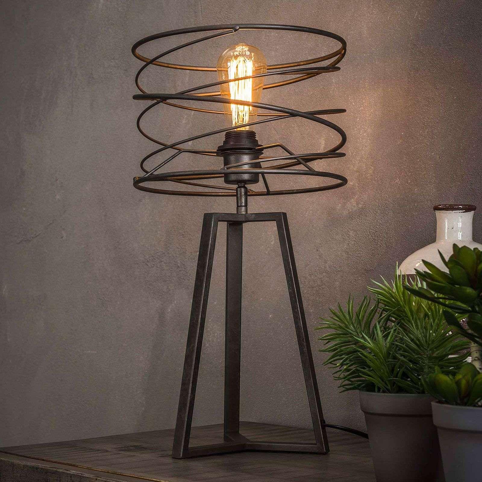 Lampe A Poser Swirlaronda A 1 Lampe Lampe Industrielle Lampe A Poser Abat Jour
