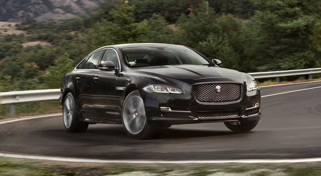 2017 jaguar xj black driving