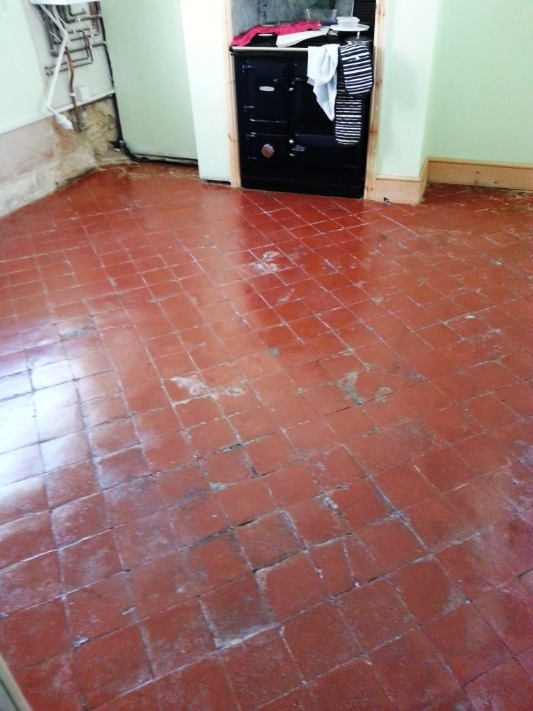Quarry tiles after restoration in langford restoring quarry tile flooring doublecrazyfo Gallery