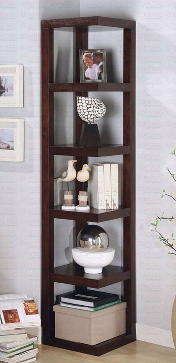 Living Room Corner Furniture Designs: Love The Full Shelf (not Triangle). Want