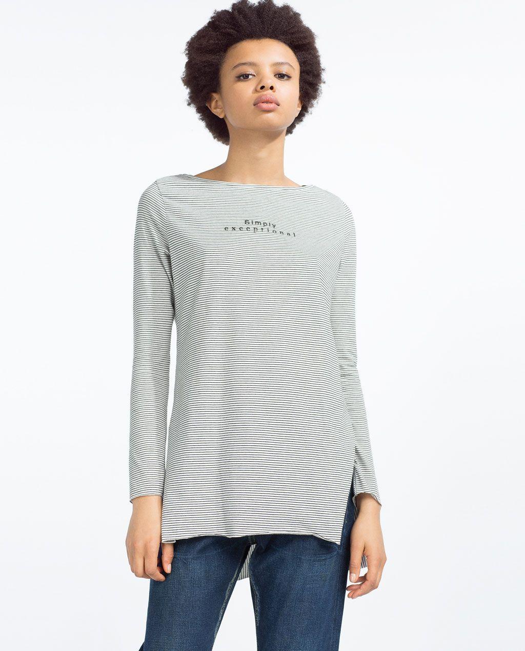 ca0c4d0bb Mujer Mujer Camiseta Zara Zara Camiseta Mujer Zara Camiseta Mujer ...