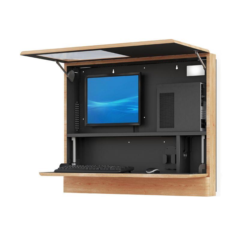 Computer Rack Wall Cabinet Computer Rack Computer Workstation Tiny House Interior Design