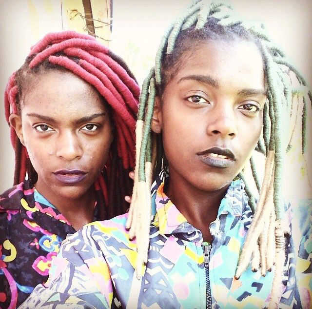 Delcia and Alia of Djangaj in faux locs