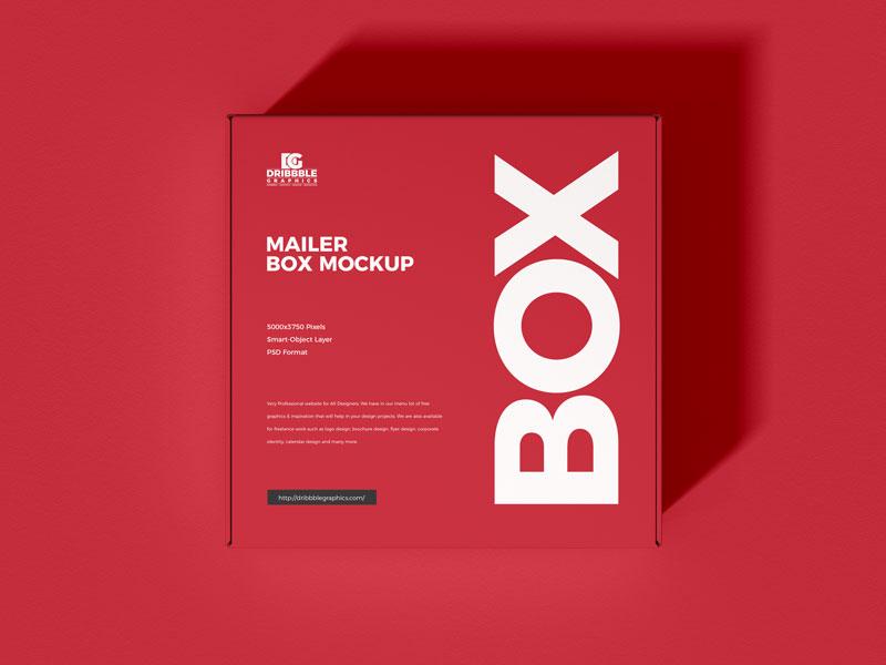 Download Free Mailer Box Mockup Dribbble Graphics