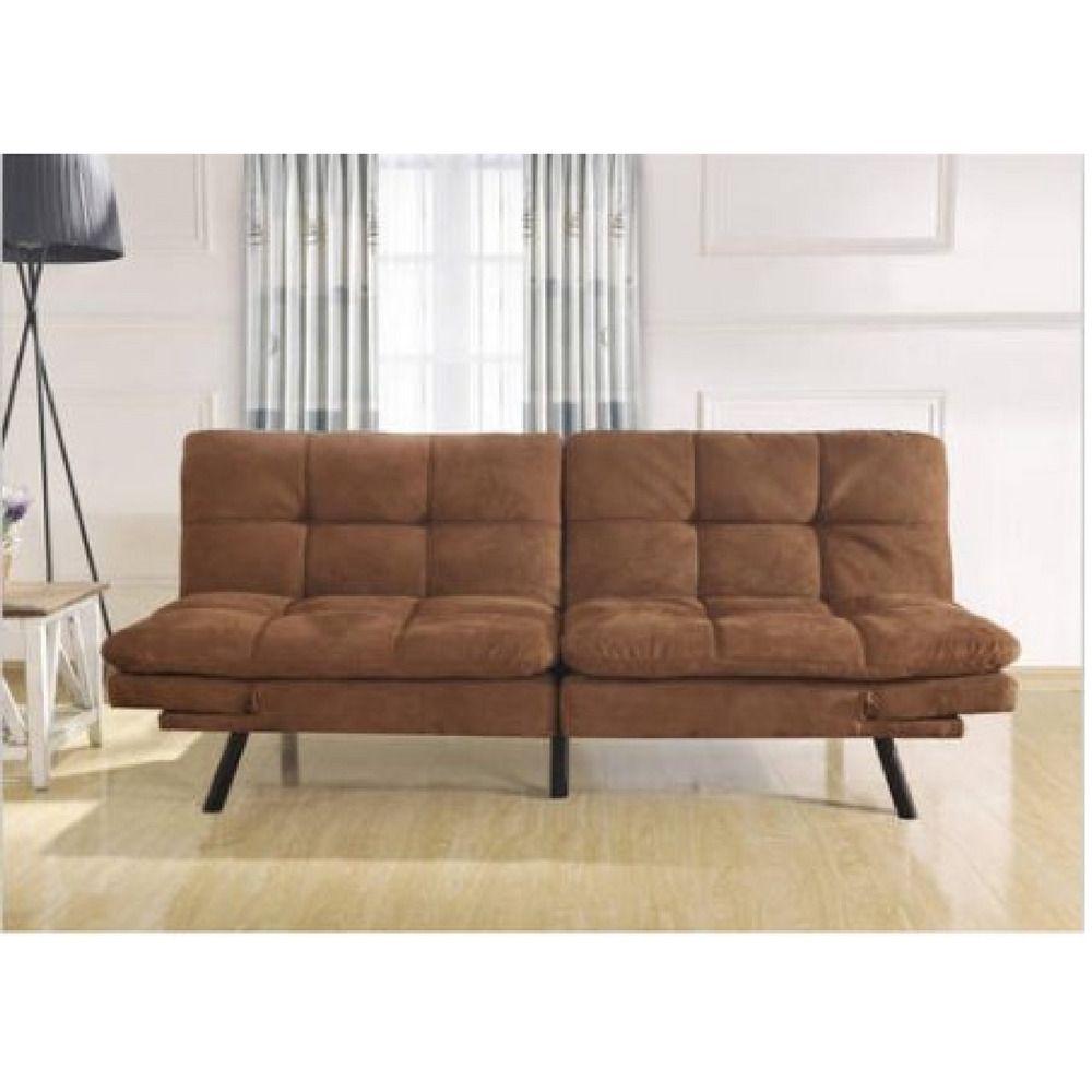Sofa Couch Memory Foam Mattress Futon Living Room Furniture Modern Love Seat Mainstays Contemporary