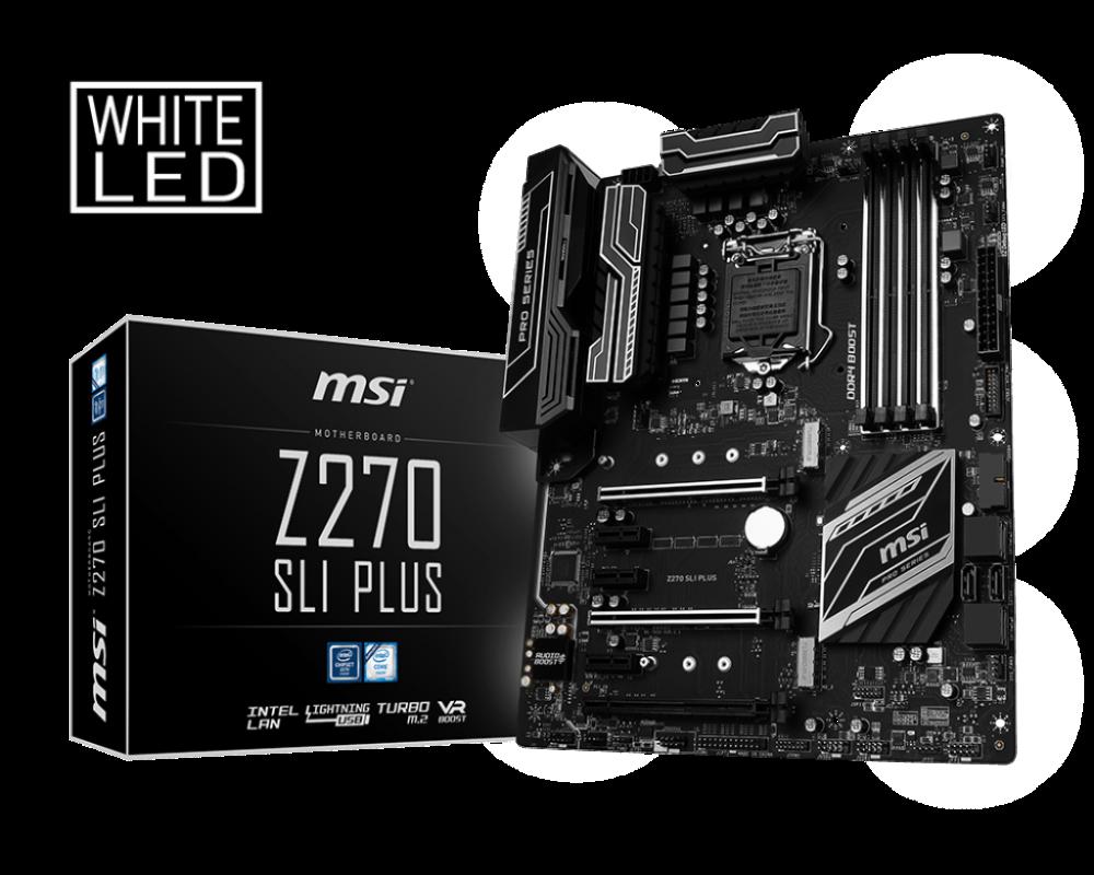 Z270 Sli Plus Motherboard The World Leader In Motherboard Design Msi Global In 2020 Motherboard Intel Msi