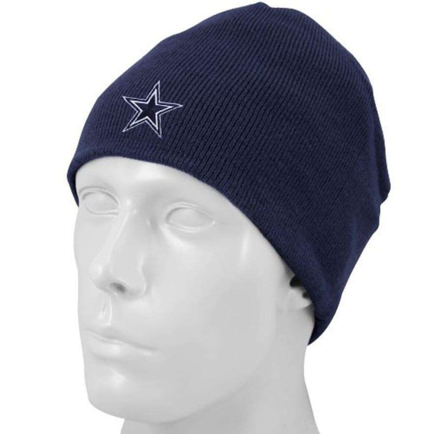 Dallas cowboys navy blue basic knit beanie cap knit