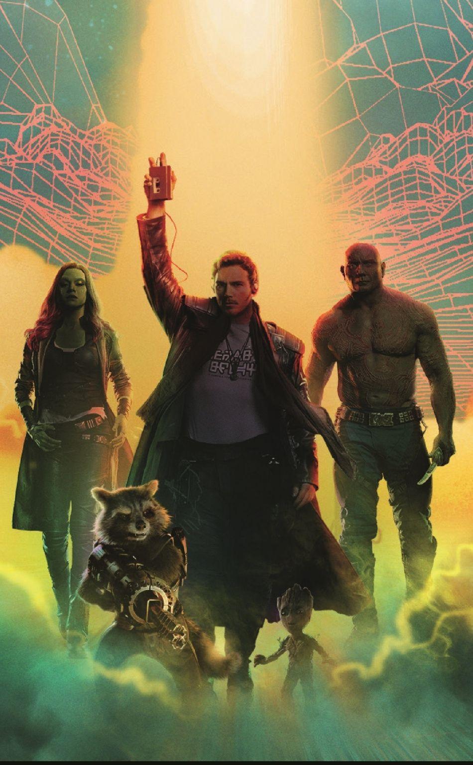 Guardians of the galaxy, superhero team, art, 950x1534 wallpaper