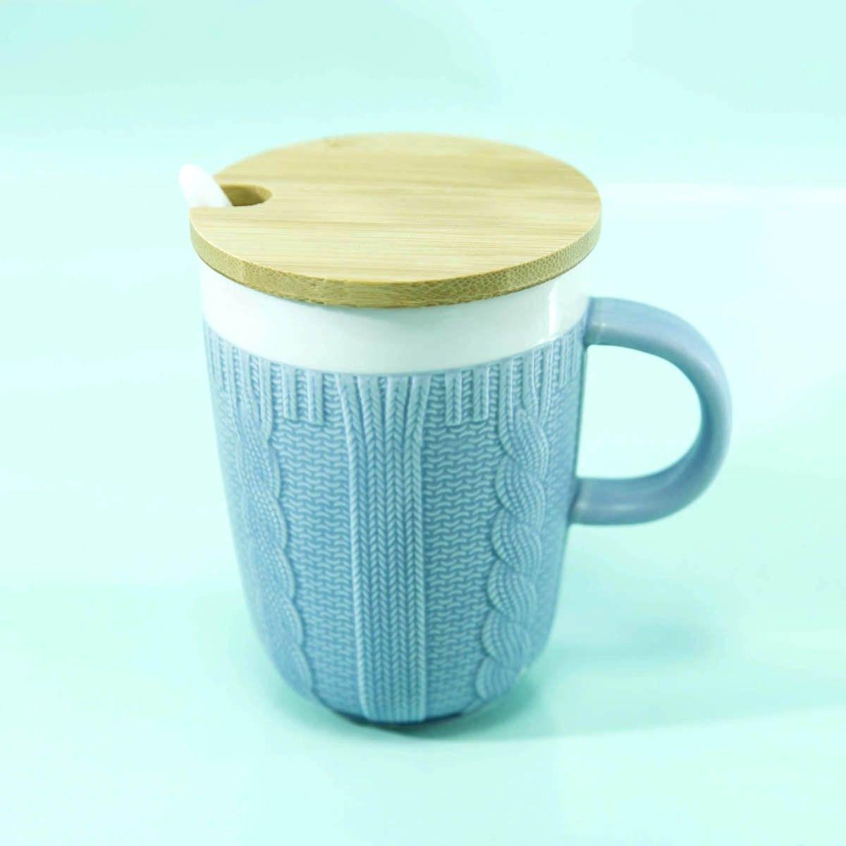 Panmomo Wool Sweater Ceramic Mug Grey Bahan Dan Sendok Rodeo Bundling 5 Abu S Keramik Tutup Kayu Warna Tinggi 11 Cm Diameter Bagian Atas 8