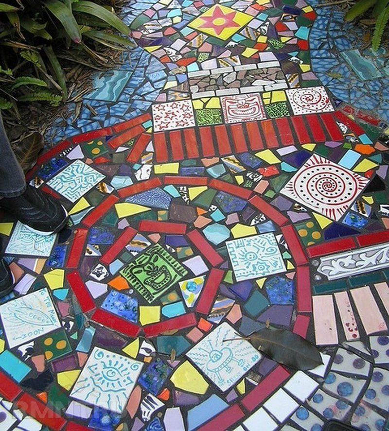 Садовая мозаика своими руками. Для дачников. ру 96