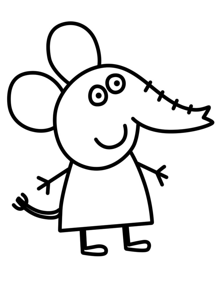 Peppa Pig Coloring Pages Peppa Pig Coloring Pages Elephant