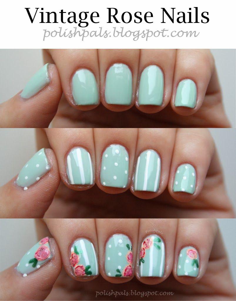 How to Make Roses On Nails - DIY Nail Art   Art nails, Rose and Nail ...