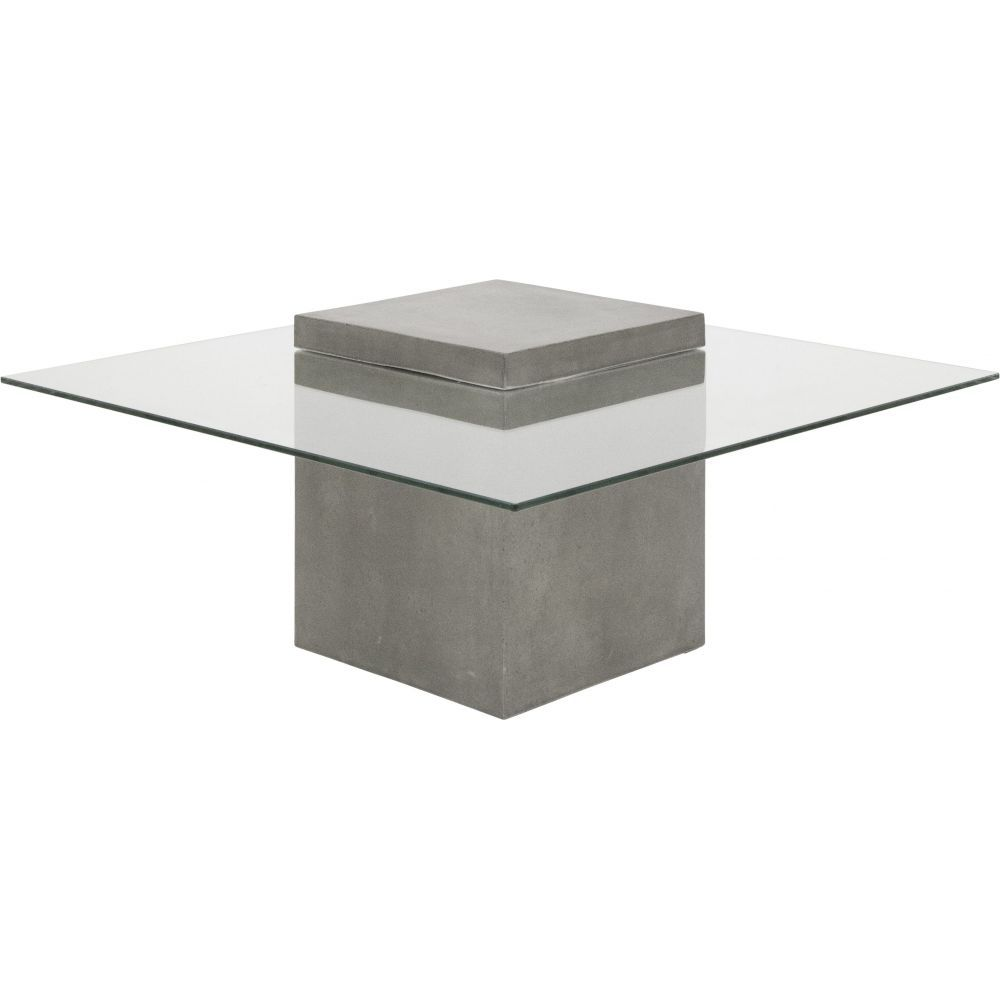 Avasha Concrete Glass Coffee Table Antique Grey Melbourne - Concrete and glass coffee table