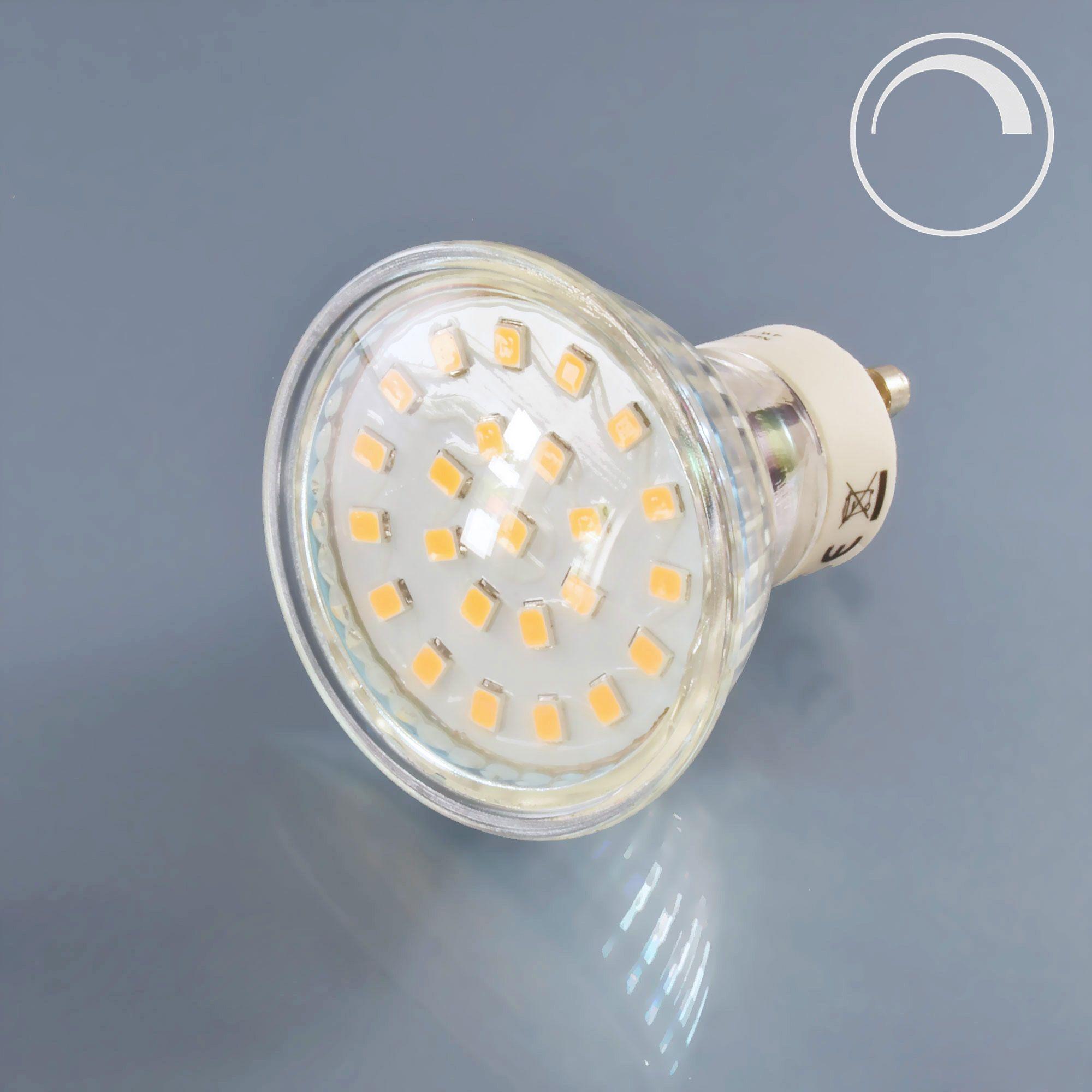 LED Spot Lampe Glas 4 Watt dimmbar GU10 230V