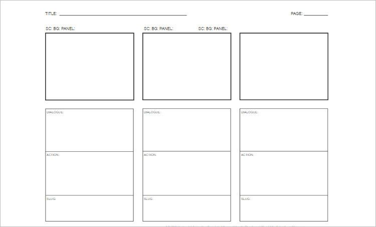 sample video storyboard template | tomu.co, Presentation templates