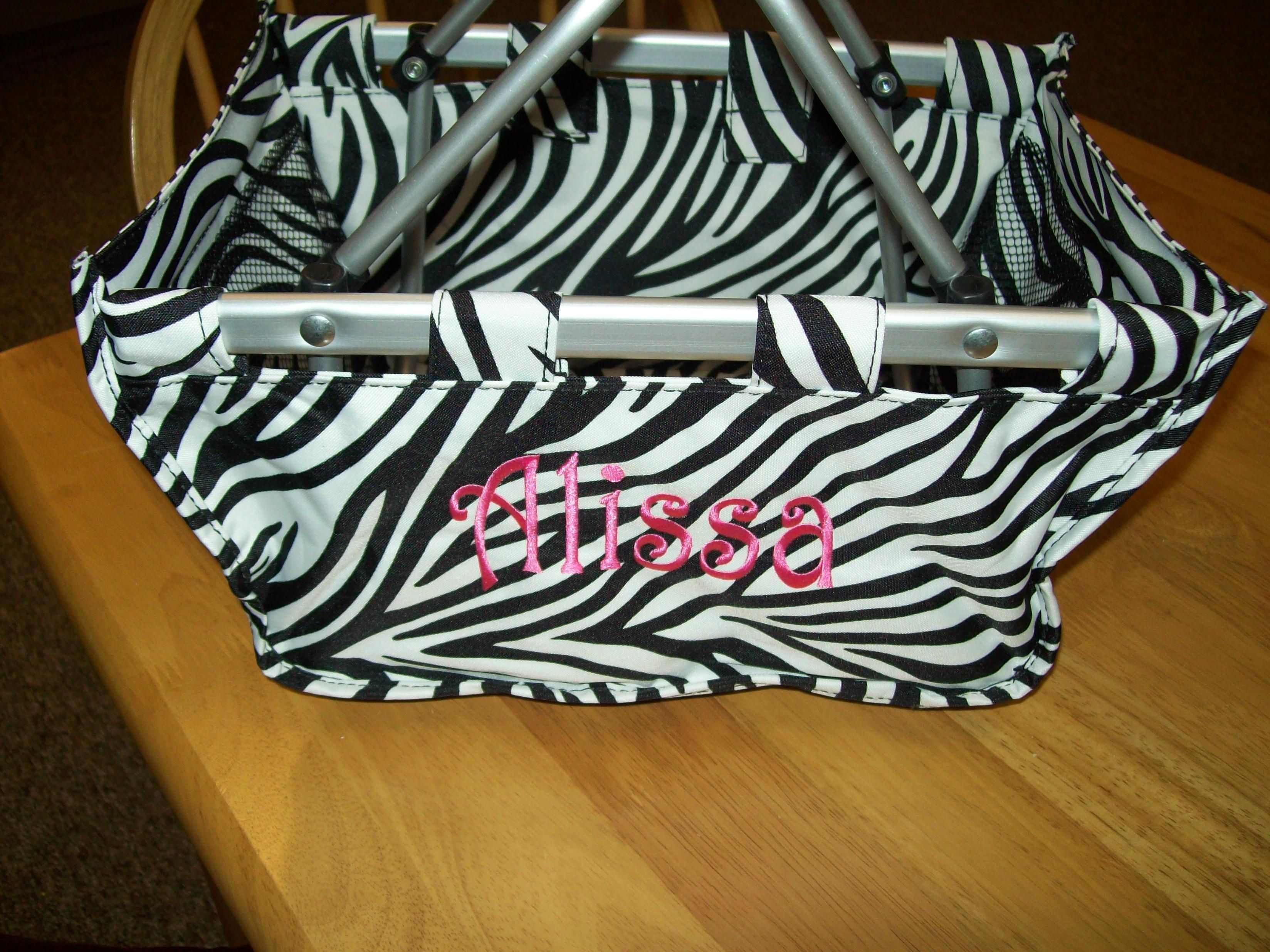 monogrammed mini market totes from Personalize Your Items, free shipping $30