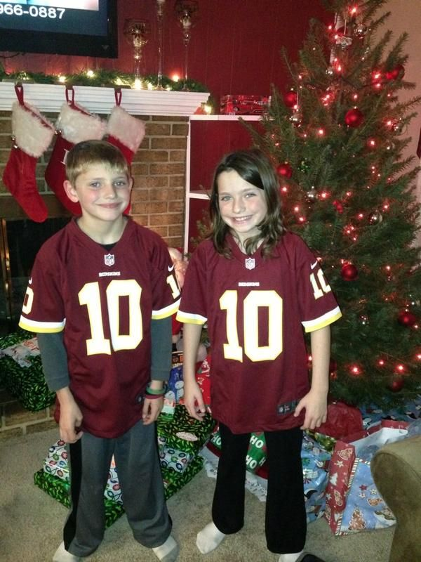 buy online b6c3a 9b626 Sporting their new #Redskins jerseys! Sent in by Jim. | Lil ...