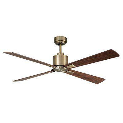 Allmodern 52 4 Blade Standard Ceiling Fan With Remote Control Ceiling Fan With Remote Ceiling Fan Modern Ceiling Fan