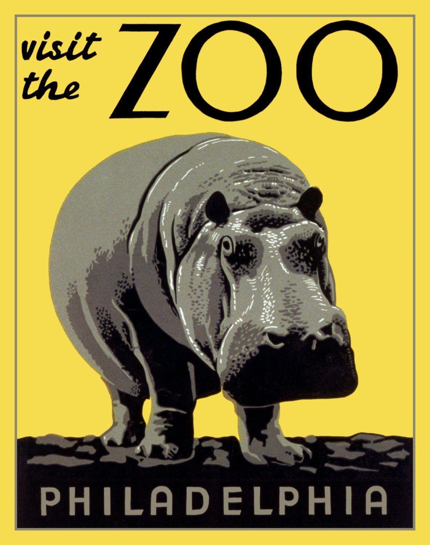 HIPPO Visit The ZOO Hippopotamus Digitally Remastered Vintage Fine ...