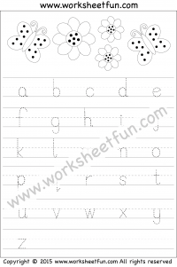 small letter tracing lowercase worksheet letter tracing tracing letters small letters. Black Bedroom Furniture Sets. Home Design Ideas