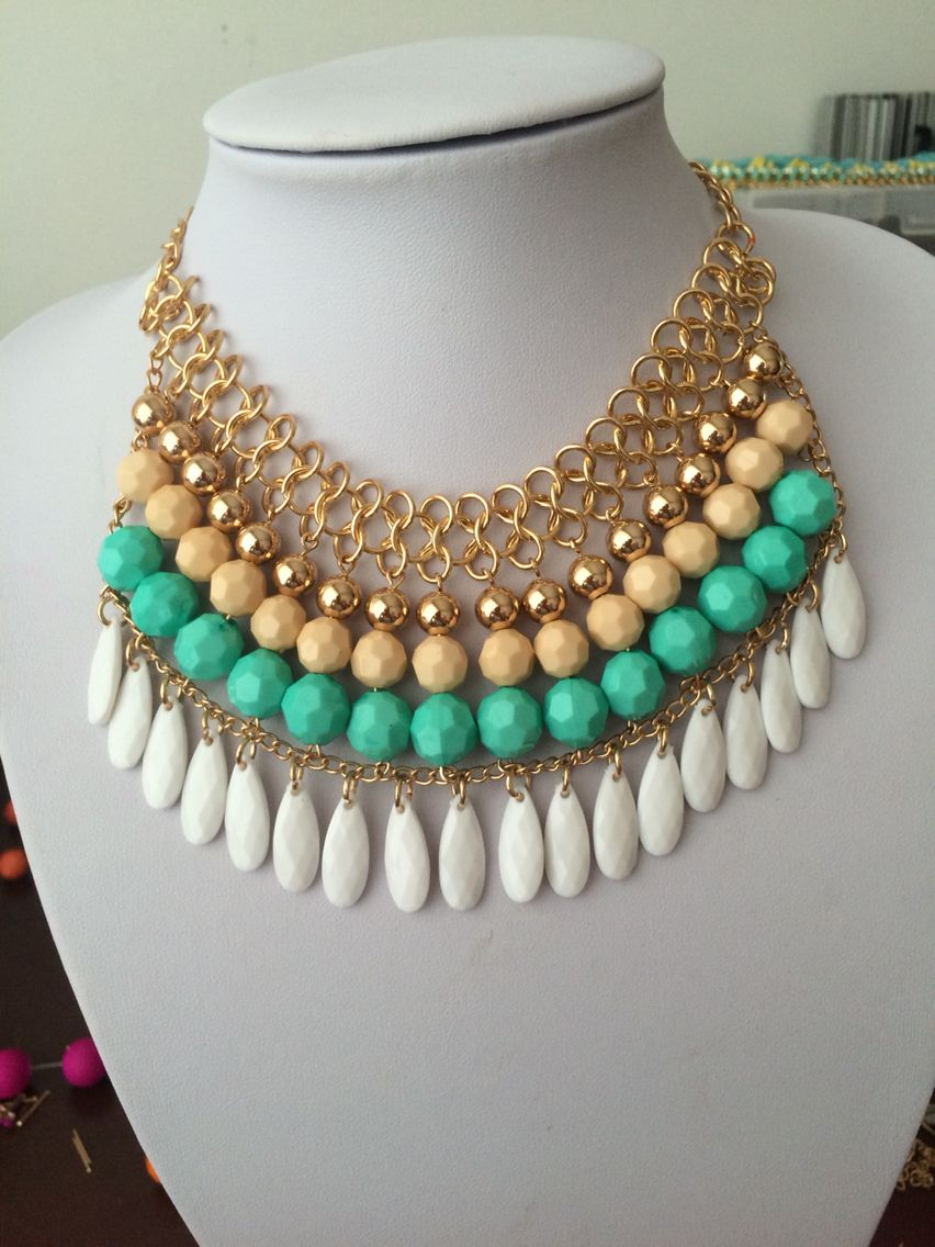 72c643d0fed4 Maxi Necklace Collares Babero
