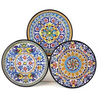 Amazon.com - Hand Painted \u0027Azahara 3\u0027 Ceramic Plate - Decorative Plates | For the Home | Pinterest | Ceramic plates  sc 1 st  Pinterest & Amazon.com - Hand Painted \u0027Azahara 3\u0027 Ceramic Plate - Decorative ...