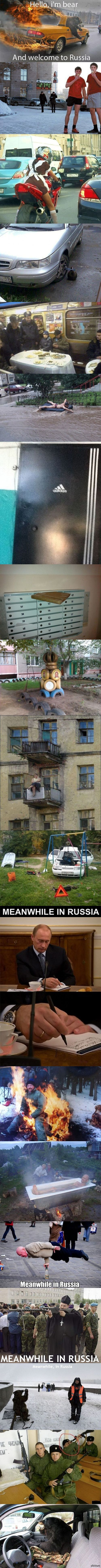 Meanwhile in Russia, been there.  Not surprised at these pix.