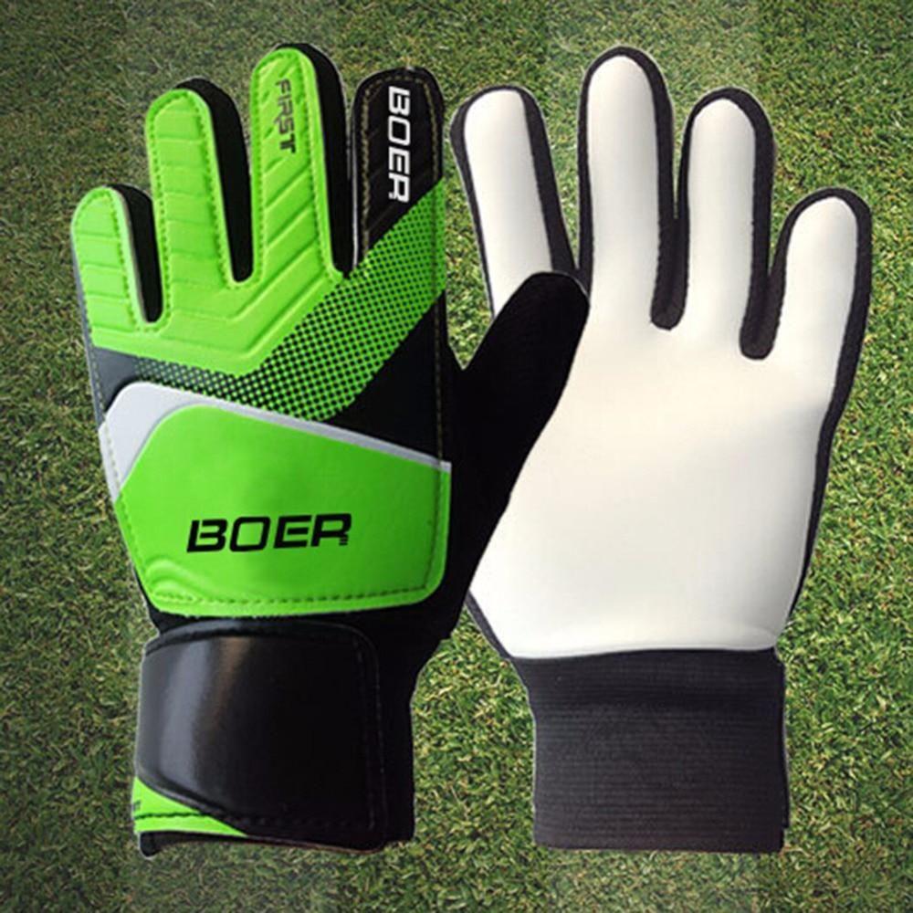 Entry Level Children Goalkeeper S Gloves Non Slip Rubber Football Kids Glove Door Goalkeeper Gloves 2017 Green Blue Size 5 6 7 Keeper Gloves Goalkeeper Gloves Football Gloves