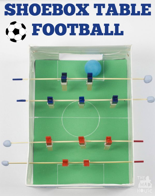 This Fab Diy Football Or Foosball Table Is Perfect For Making With The Kids And Having Loads Of Fun A Super Craft That