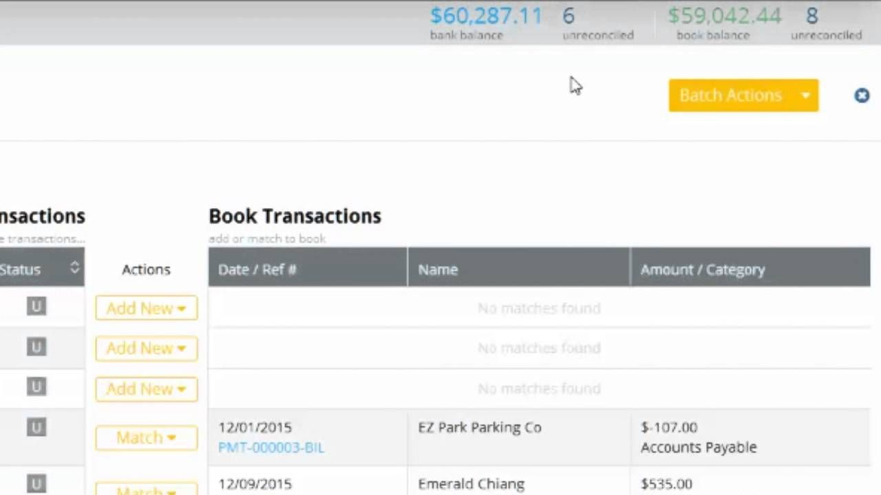 learn how to import reconcile categorize bank transactions in