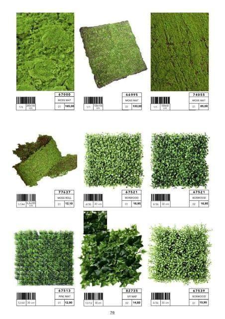 Diferentes medidas y formatos de cesped artificial for Comprar losetas vinilicas pared
