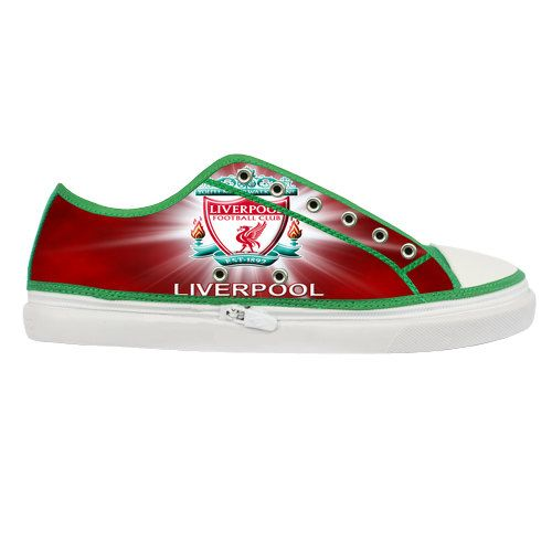 303055d0ef Liverpool FC Logo Custom Canvas Shoes Women by LoveBeadsWorld ...