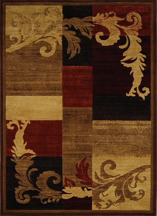Modern Brown Red Burgundy 5x8 Area Rug Geometric Carpet Actual 5 3 X 7 2 Rugs On Carpet Global Rugs Area Rugs